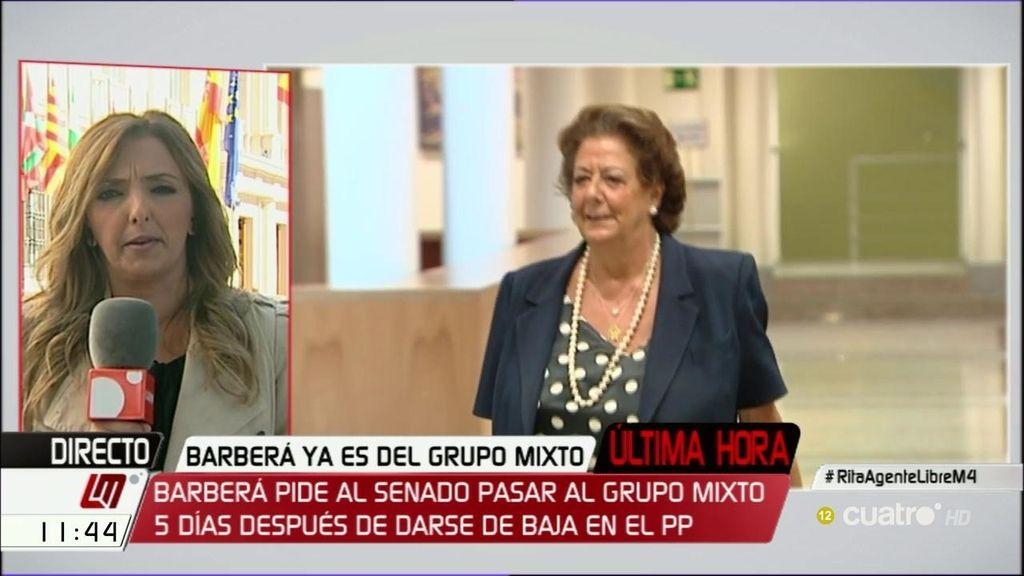 Rita Barberá cobrará 2.300€ más con su incorporación al grupo mixto