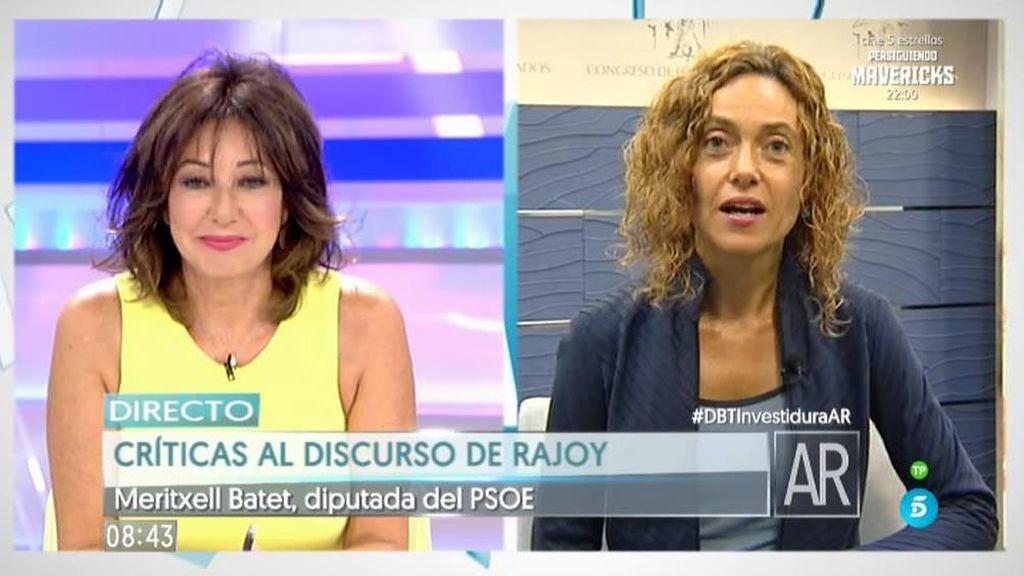 """Meritxel Batet: """"Con el tratamiento que hizo Rajoy a C's yo me pensaría el voto"""""""