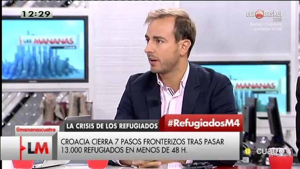 """J. Dorado, sobre la crisis de refugiados: """"Estamos en un espacio de libre circulación y tiene que haber un acuerdo de todos"""""""
