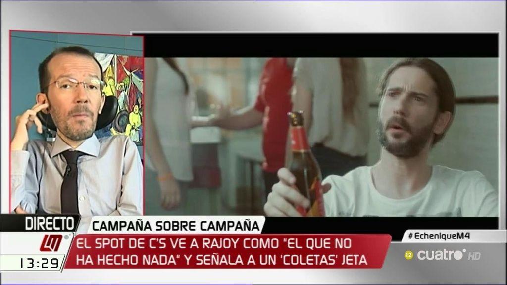 """Echenique: """"C's nos tenía acostumbrados a hacer su campaña en países extranjeros, por lo menos este spot es en España"""""""