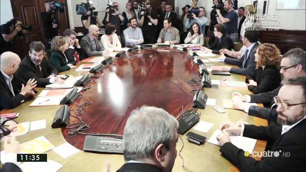Así fue la reunión a tres de PSOE, Podemos y Ciudadanos