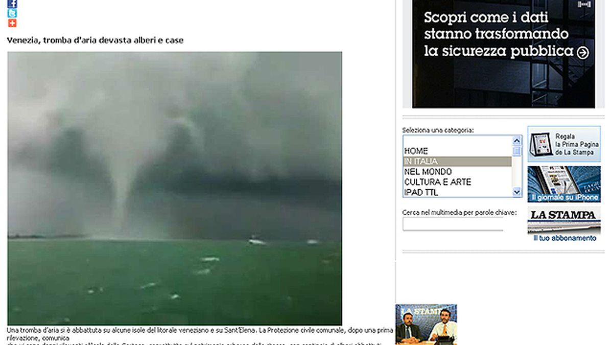Un tornado causa importantes daños en varias islas de la laguna de Venecia