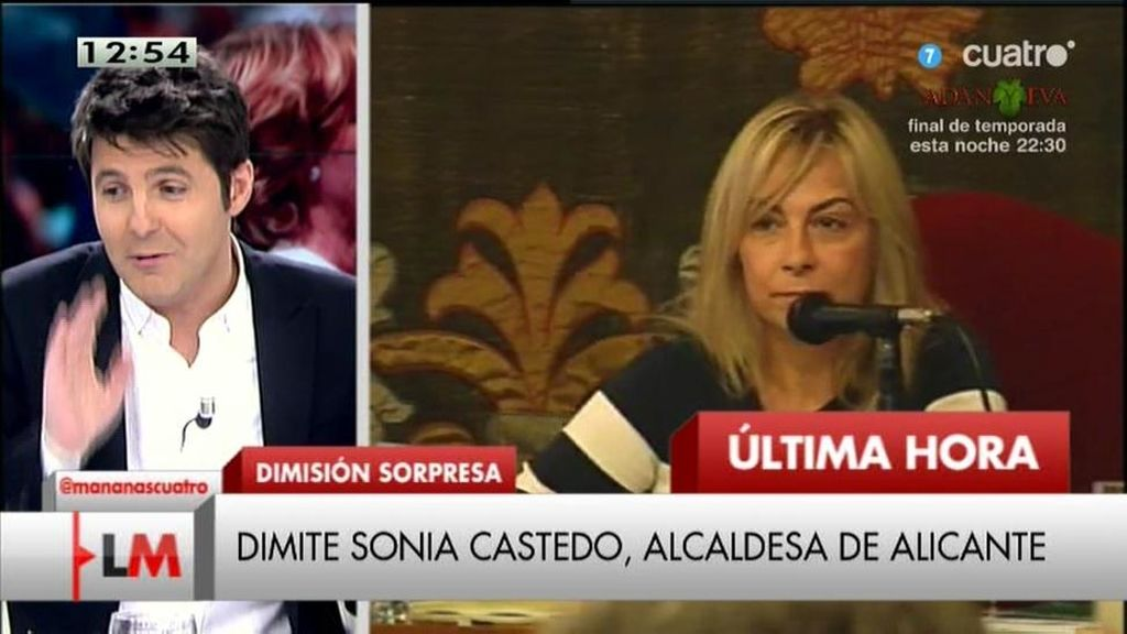 """Jesús Cintora, sobre la dimisión de Castedo: """"Dígale a sus hijas que no se puede amañar un concurso de obras públicas"""""""