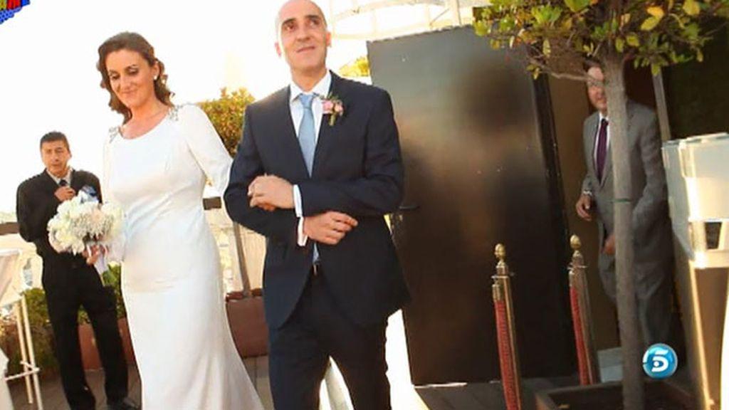 Colaboradores, directores, reporteros... El equipo, al completo en la boda de Carlota