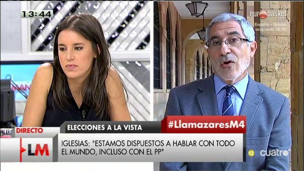 """Llamazares: """"No creo que haya integración de IU en Podemos ni lo compartiría"""""""