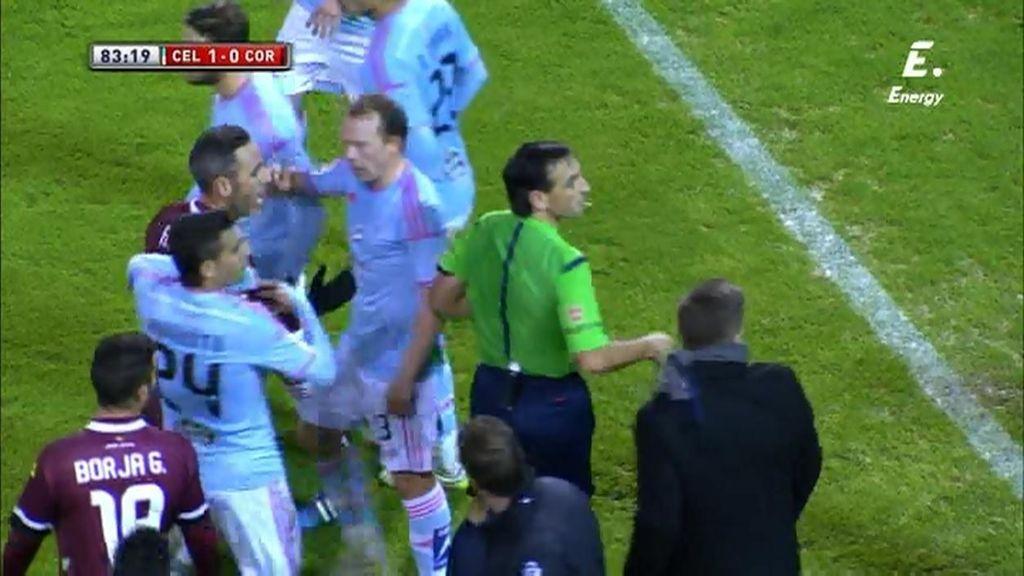 De penalti para el Córdoba a falta para el Celta... y Berizzo expulsado: el lío final