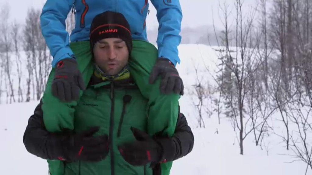 David Bustamante se enfrenta al frío de Noruega mientras Jesús Calleja le vacila