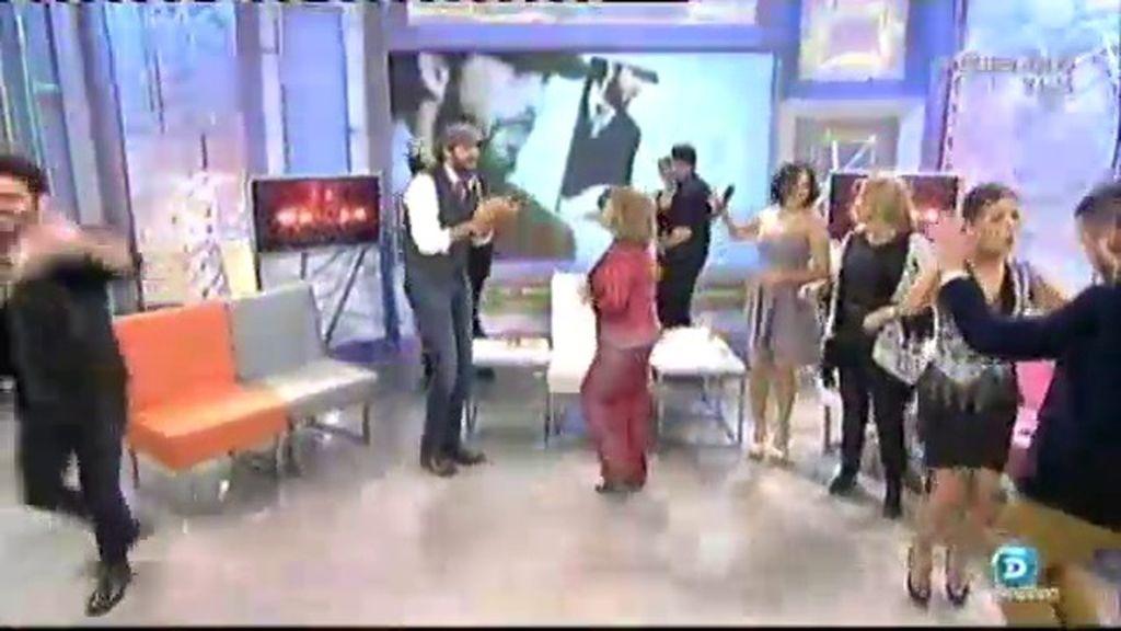 Las clases de baile de Juan Luis Guerra a María Teresa Campos