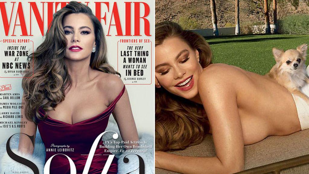 Sofía Vergara posa semidesnuda para 'Vanity Fair' y admite tener complejo con sus pechos