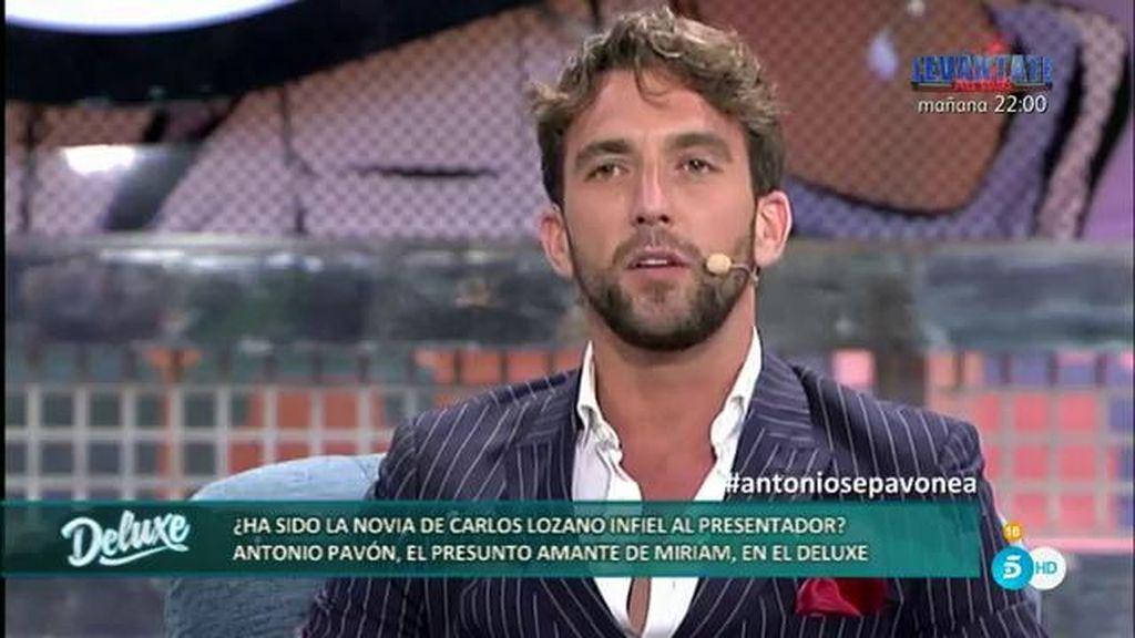 Antonio Pavón asegura que sólo tuvo una relación profesional con Miriam