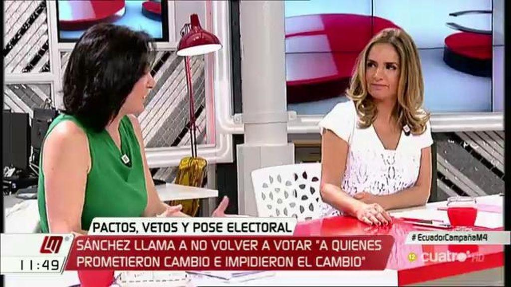 """Bescansa, a Sumelzo: """"Queremos formar gobierno con vosotros que lleve a cabo no sólo un desalojo del PP, sino de sus políticas"""""""