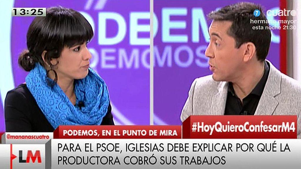 Teresa Rodríguez explica la ausencia de Pablo Iglesias en Telecinco