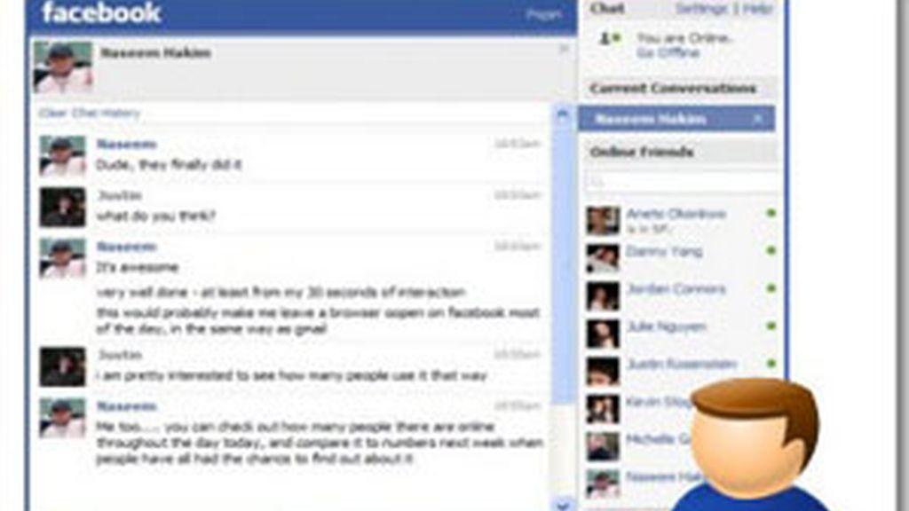 Ventana del chat de Facebook.