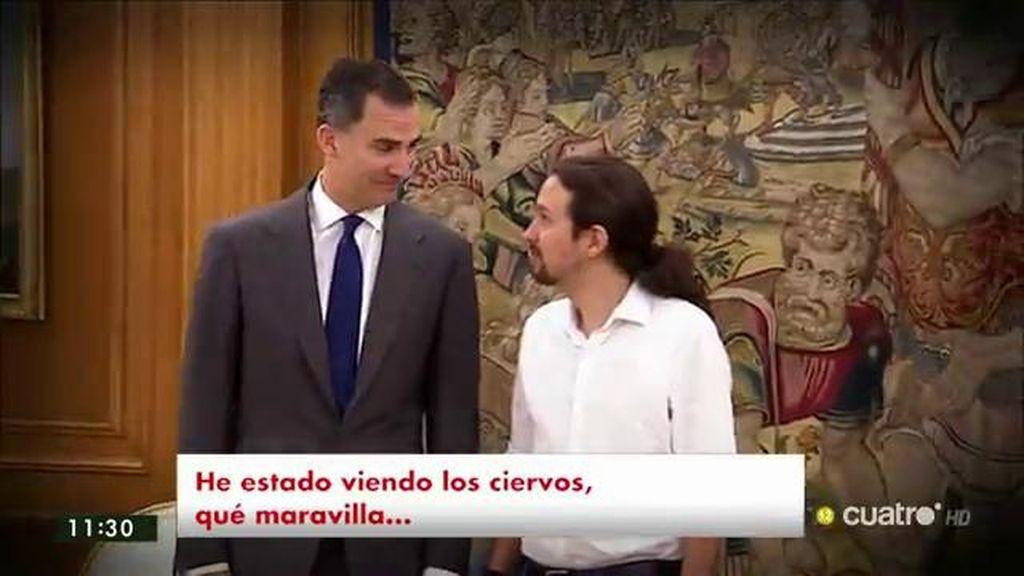 Felipe VI recibe a Pablo Iglesias en Zarzuela
