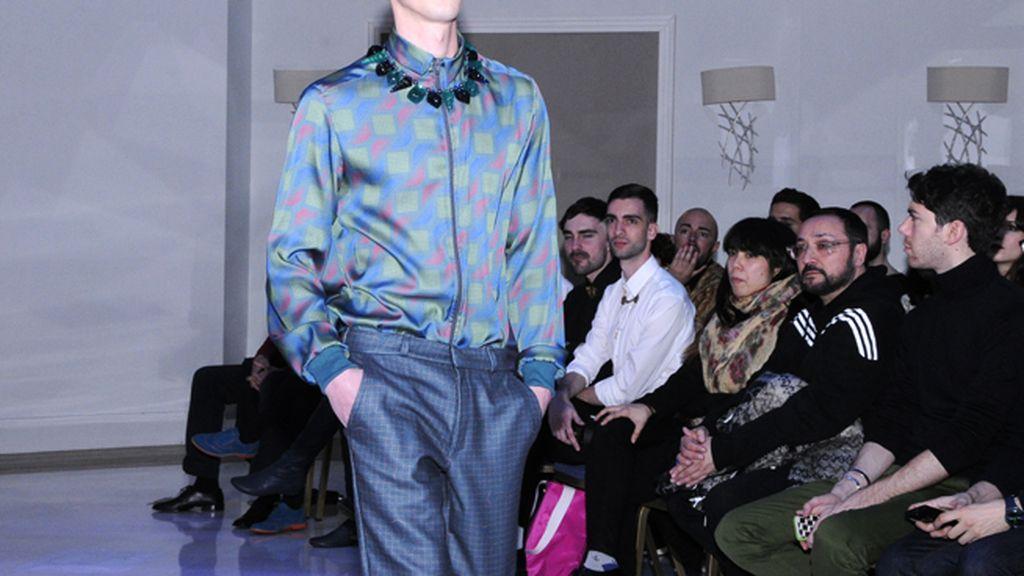 Jarabowtie también presentó diseños masculinos en su colección