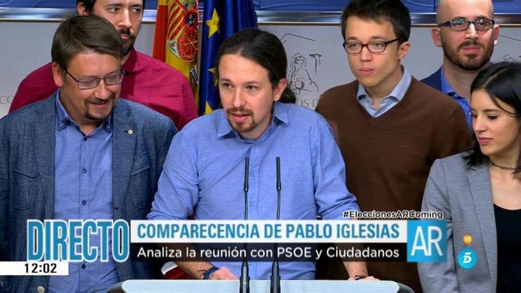 Podemos preguntará a las bases si quiere un Gobierno basado en el pacto PSOE - C's