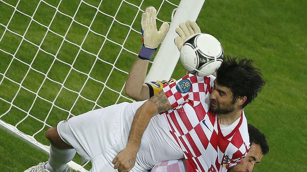 España - Croacia, en imágenes