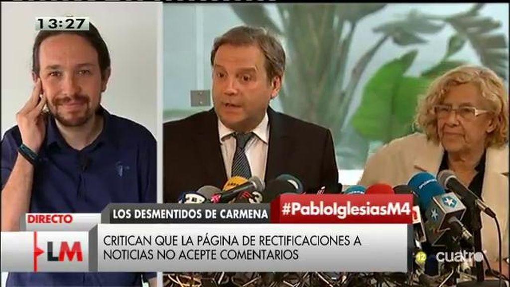 """Iglesias: """"Lo que no es positivo es convertir una televisión pública en un aparato de propaganda del PP"""""""