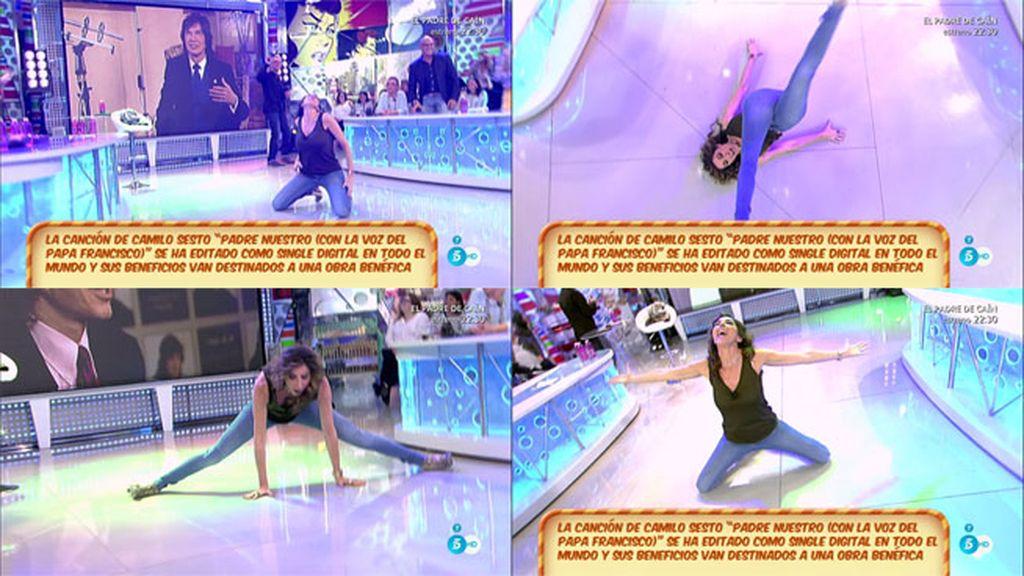 Paz Padilla se desata bailando 'Vivir así es morir de amor' de Camilo Sesto