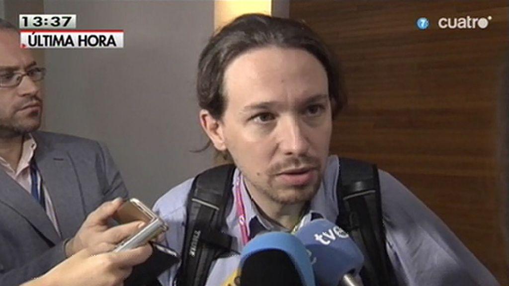 """Pablo Iglesias: """"Desde hace semanas estamos viviendo una ofensiva de la casta"""""""