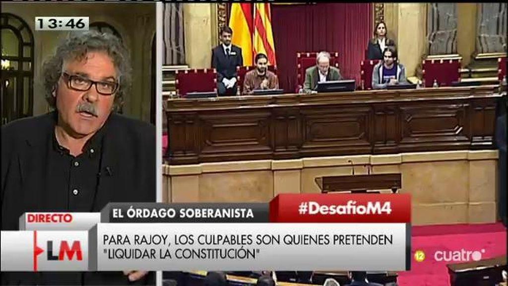 """Tardà: """"Si suspenden la autonomía es el acicate que aceleraría más el proceso hacia la proclamación de la república"""""""
