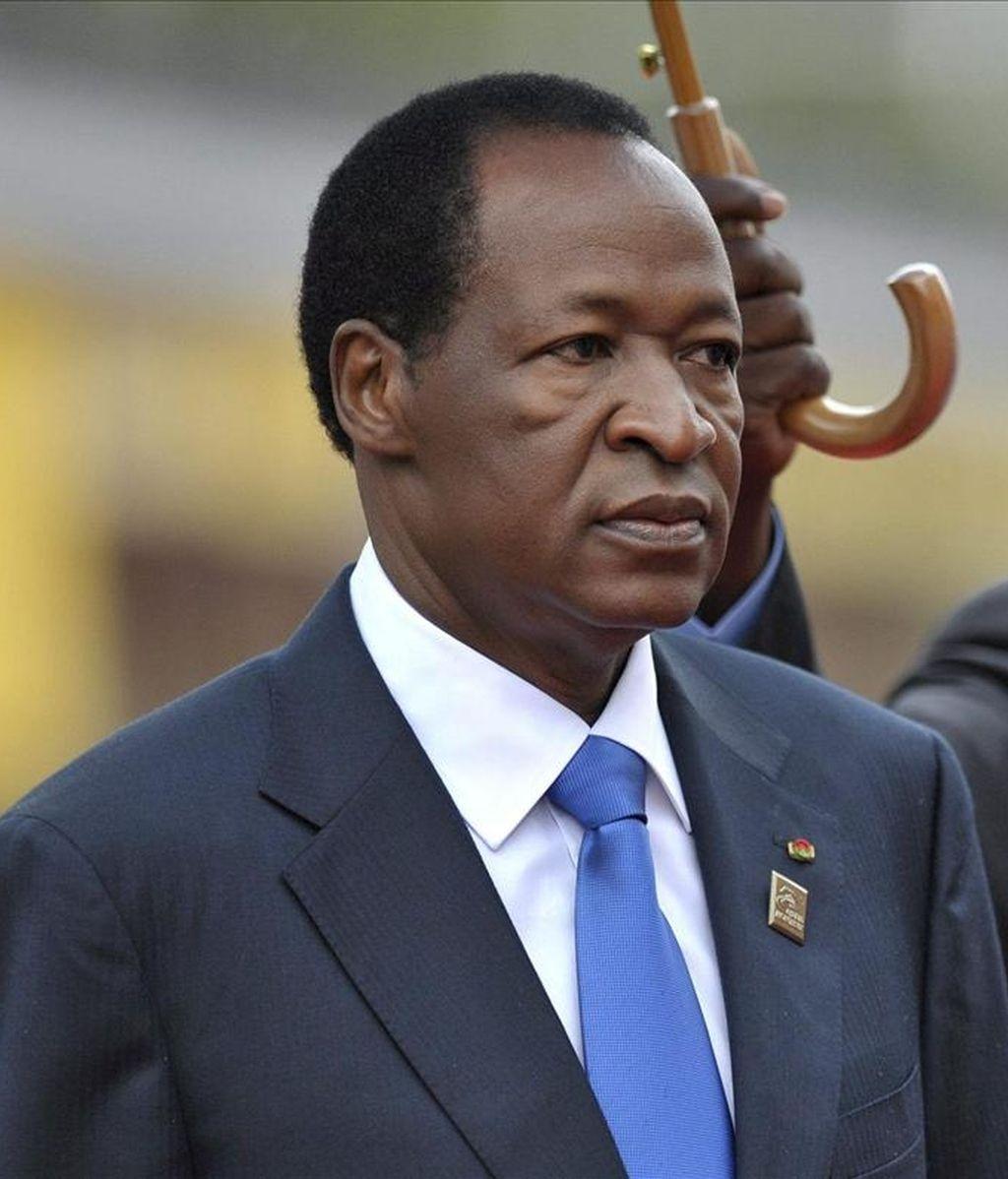 En la imagen, el presidente saliente de Burkina Faso, Blaise Compaoré. EFE/ Archivo