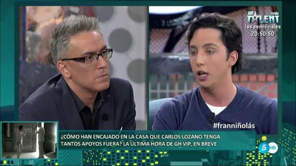 """Fran Nicolás: """"Quiero que gane Carlos, no soy rencoroso"""""""