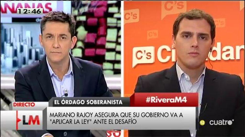 """Albert Rivera: """"Dice el señor Rajoy que la ansiedad no soluciona los problemas, la pasividad tampoco"""""""