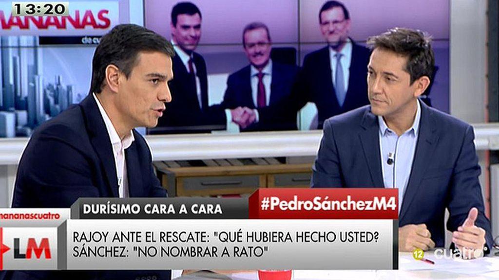 La entrevista a Pedro Sánchez, a la carta