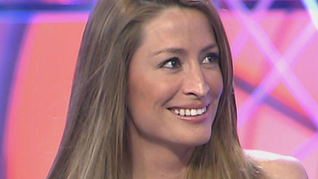Rebecca Loos, en el plató