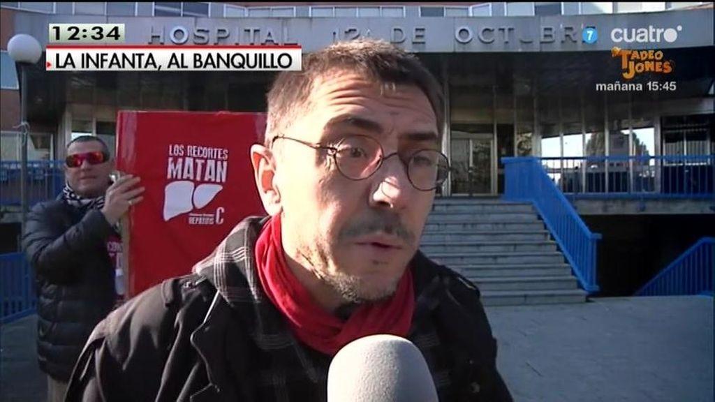 """Juan Carlos Monedero: """"Urdangarín aprendió de la familia Borbón"""""""
