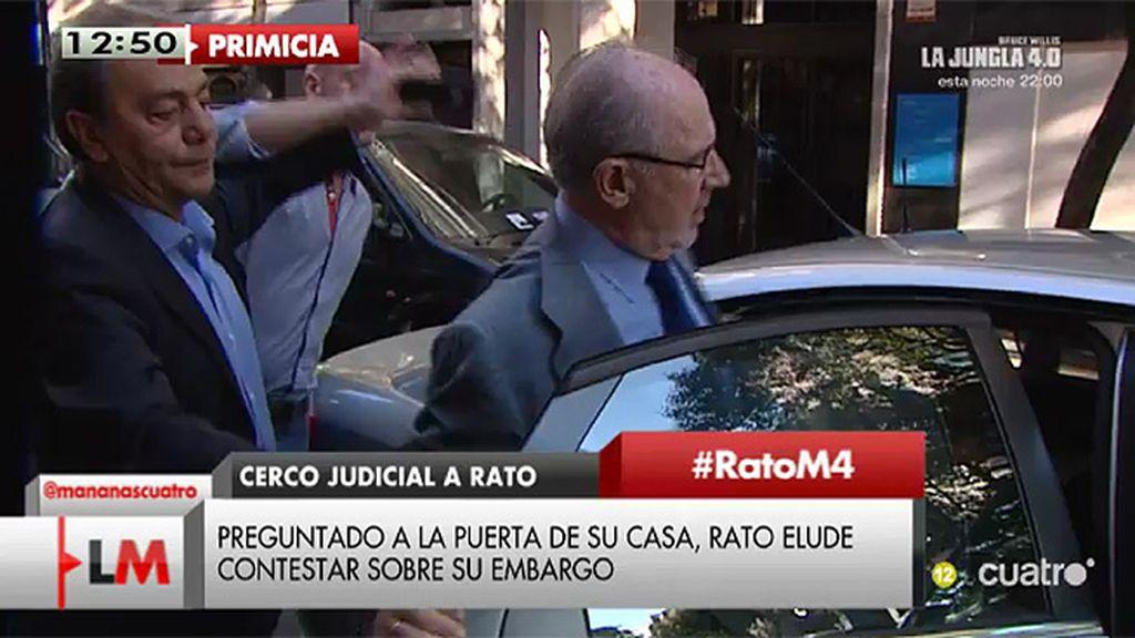 Primicia: Primeras imágenes de Rato tras conocerse el embargo ordenado por el juez