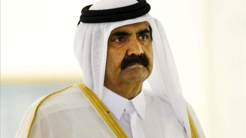 El emir de Catar, el jeque Hamad bin Khalifa al-Thani. EFE/Archivo