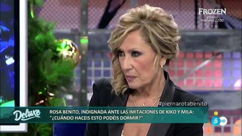 Rosa Benito perdona todo a Amador Mohedano y no a Kiko Hernández por imitarle