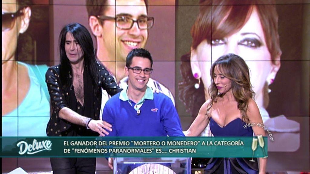 """Premios Mortero o Monedero: Christian gana el premio """"Sucesos paranormales"""""""