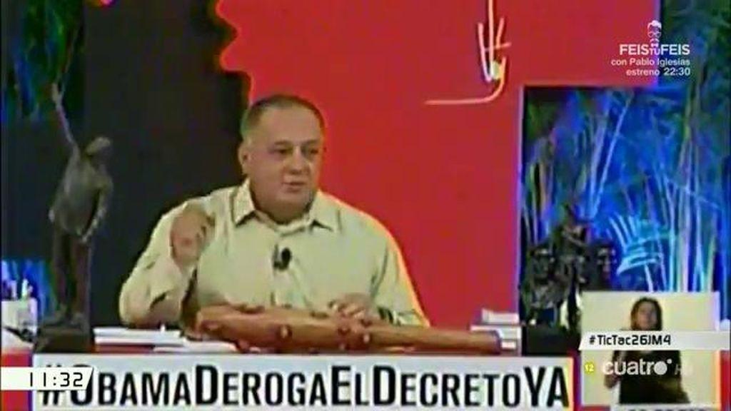 """Diosdado Cabello, de A. Rivera: """"Vino a hacer el ridículo y pasó con buena calificación"""""""