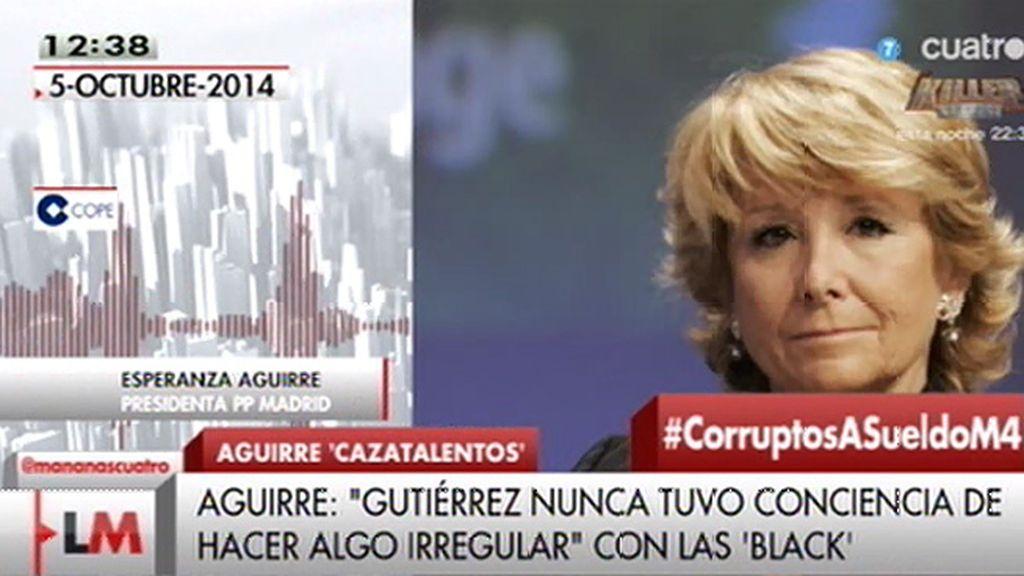 Aguirre dijo que Beltrán no tuvo conciencia de hacer algo irregular con las black