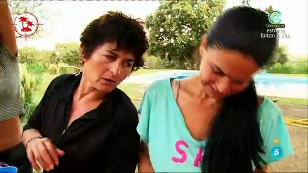 """Mari Carmen, 'piripi' en la fiesta de recompensa: """"Os veo dobles"""""""