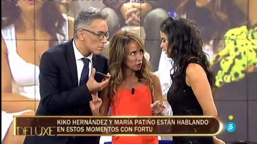 El momentazo del 'Deluxe': Kiko Hernández recibe una llamada en directo… ¡De Fortu!
