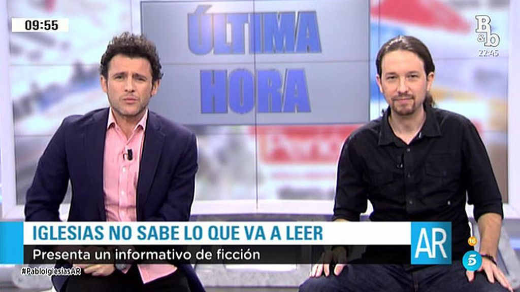 Pablo Iglesias, de candidato a la presidencia  a presentador de informativos