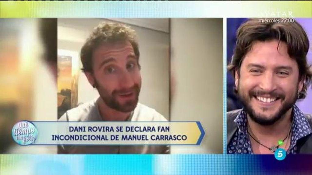 Dani Rovira, amigo y fan incondicional del cantante Manuel Carrasco