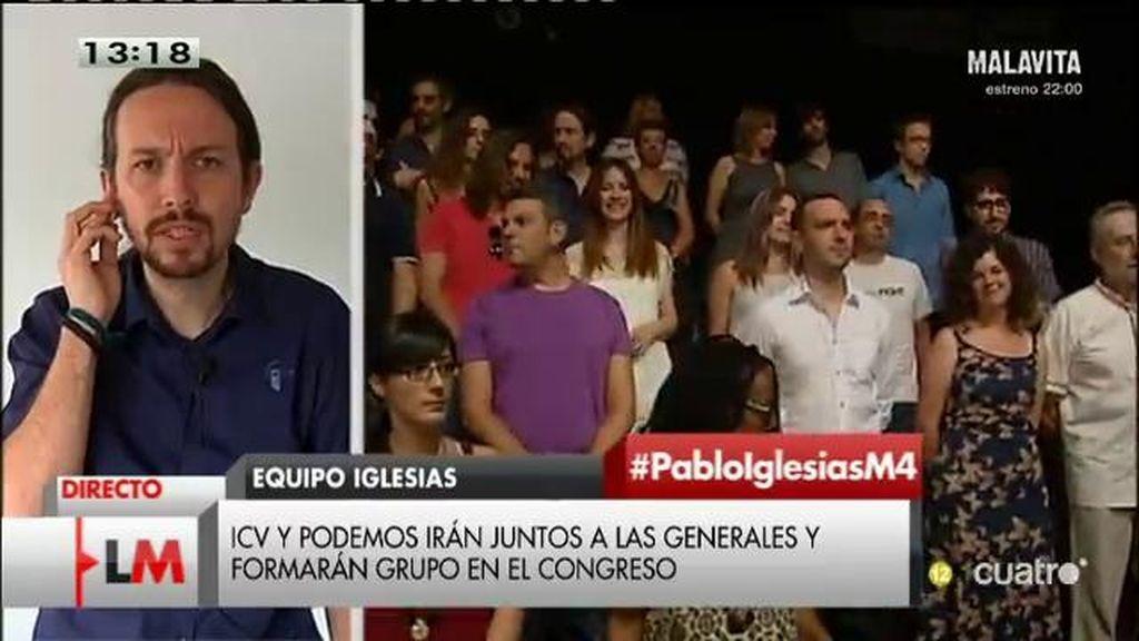 """P. Iglesias, sobre la candidatura con ICV: """"Es la dirección correcta en la que avanzar en la manera que entendemos la unidad popular"""""""