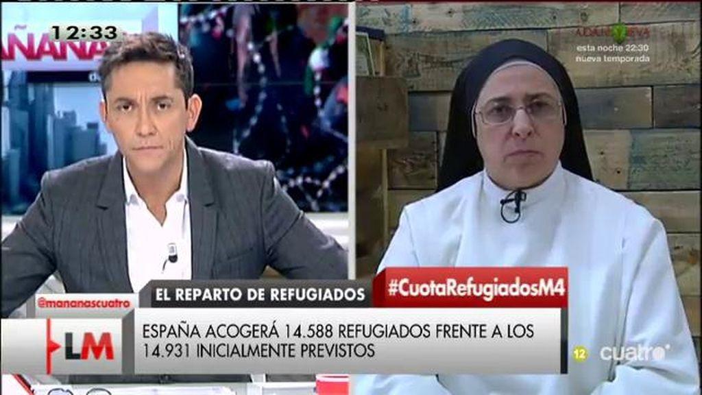 """Sor Lucía Caram, sobre los refugiados: """"No son números, despiértese señor Rajoy, que se despierte Europa y todos los ciudadanos"""""""