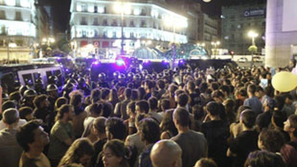 Los indigandos vuelven a tomar Madrid. Foto: EFE