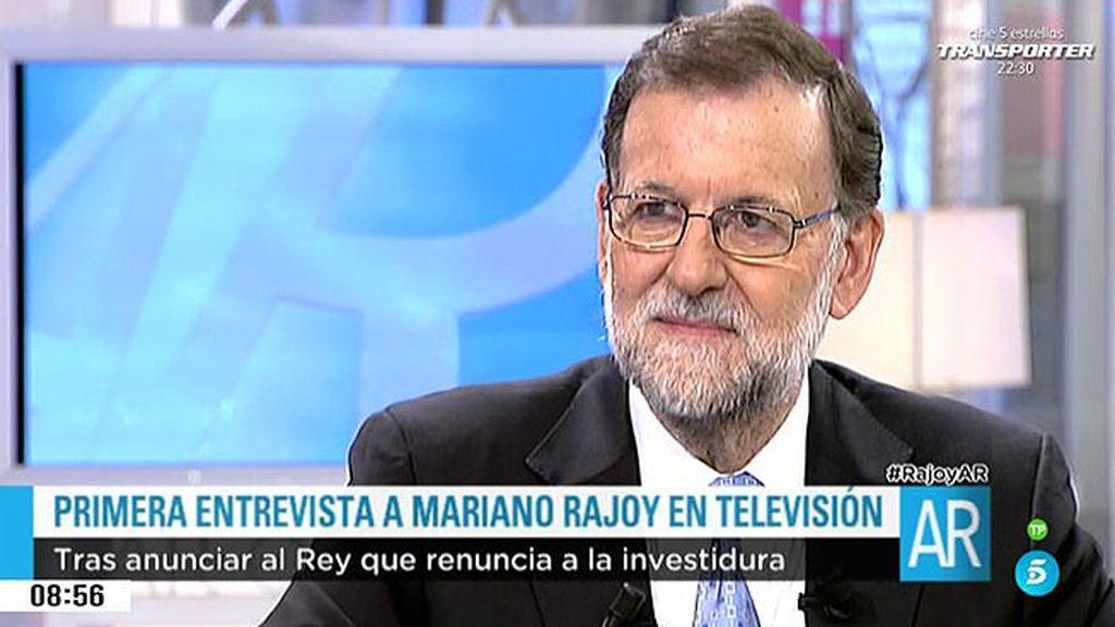 """Rajoy: """"Renuncié a mi investidura porque no tenía ninguna posibilidad de ser elegido"""""""