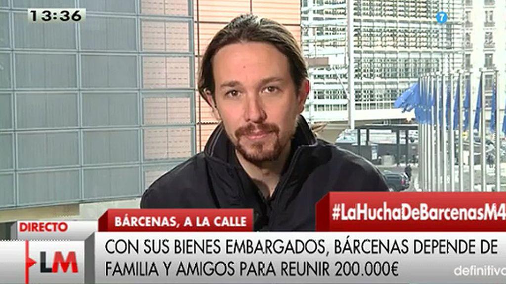 """P. Iglesias: """"La corrupción en nuestro país ha sido una forma de gobierno"""""""