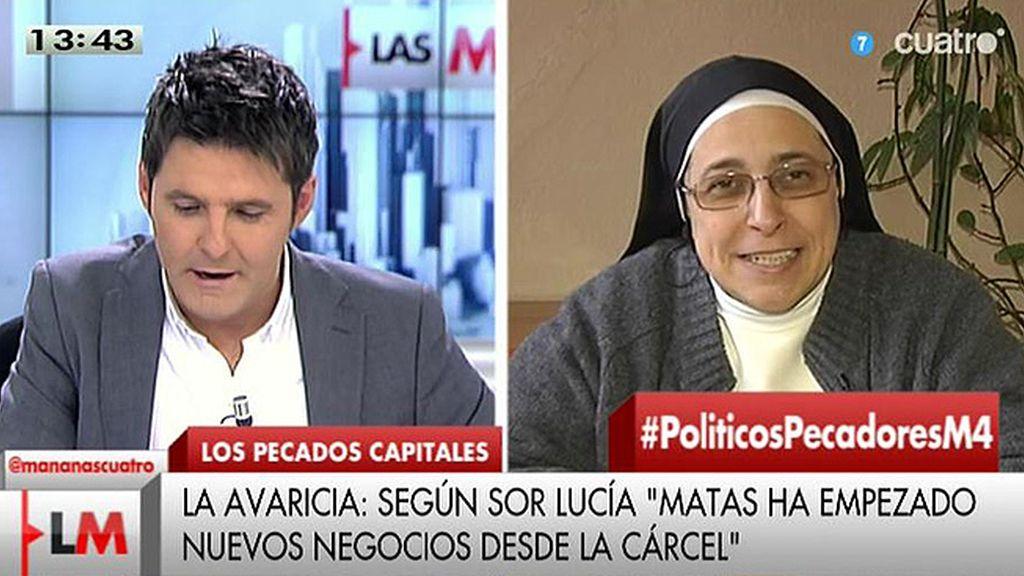Sor Lucía Caram pone nombres de políticos a los pecados capitales