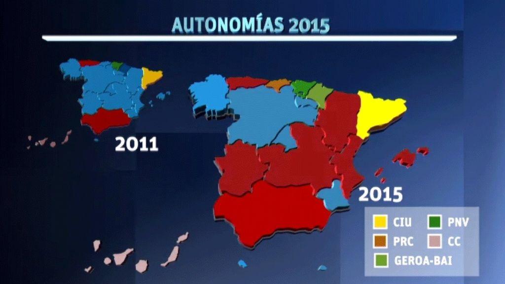 El mapa autonómico cambia de color