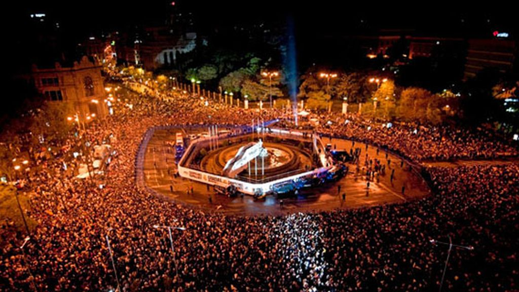La celebración del Real Madrid en Cibeles. Foto: Gtres