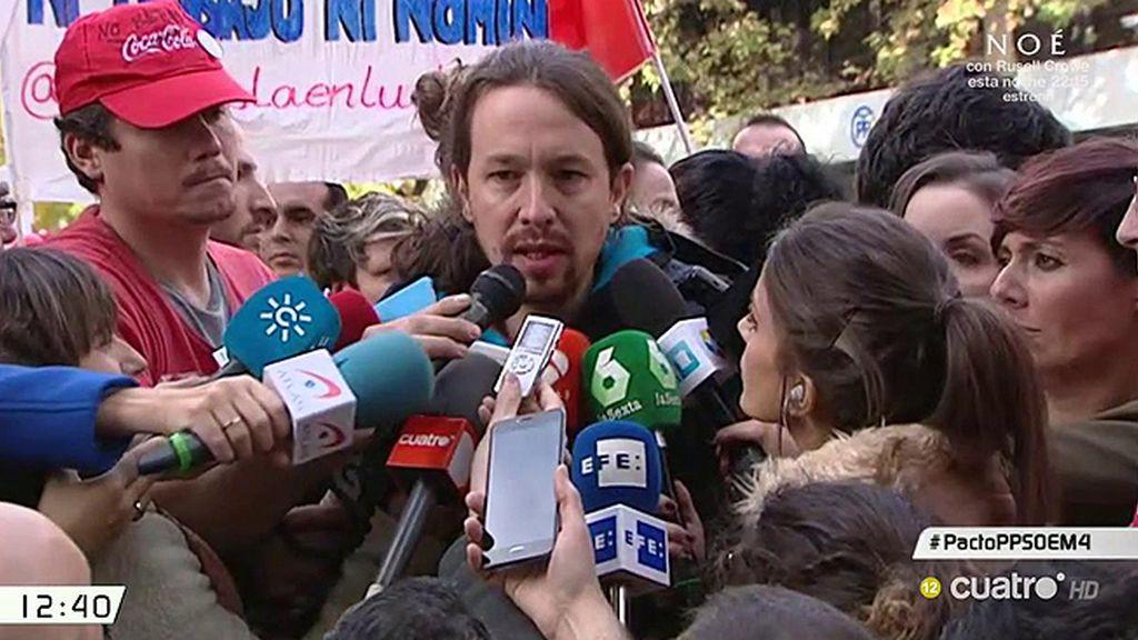 """Pablo Iglesias habla claro sobre la subida salarial: """"Se trata de migajas"""""""